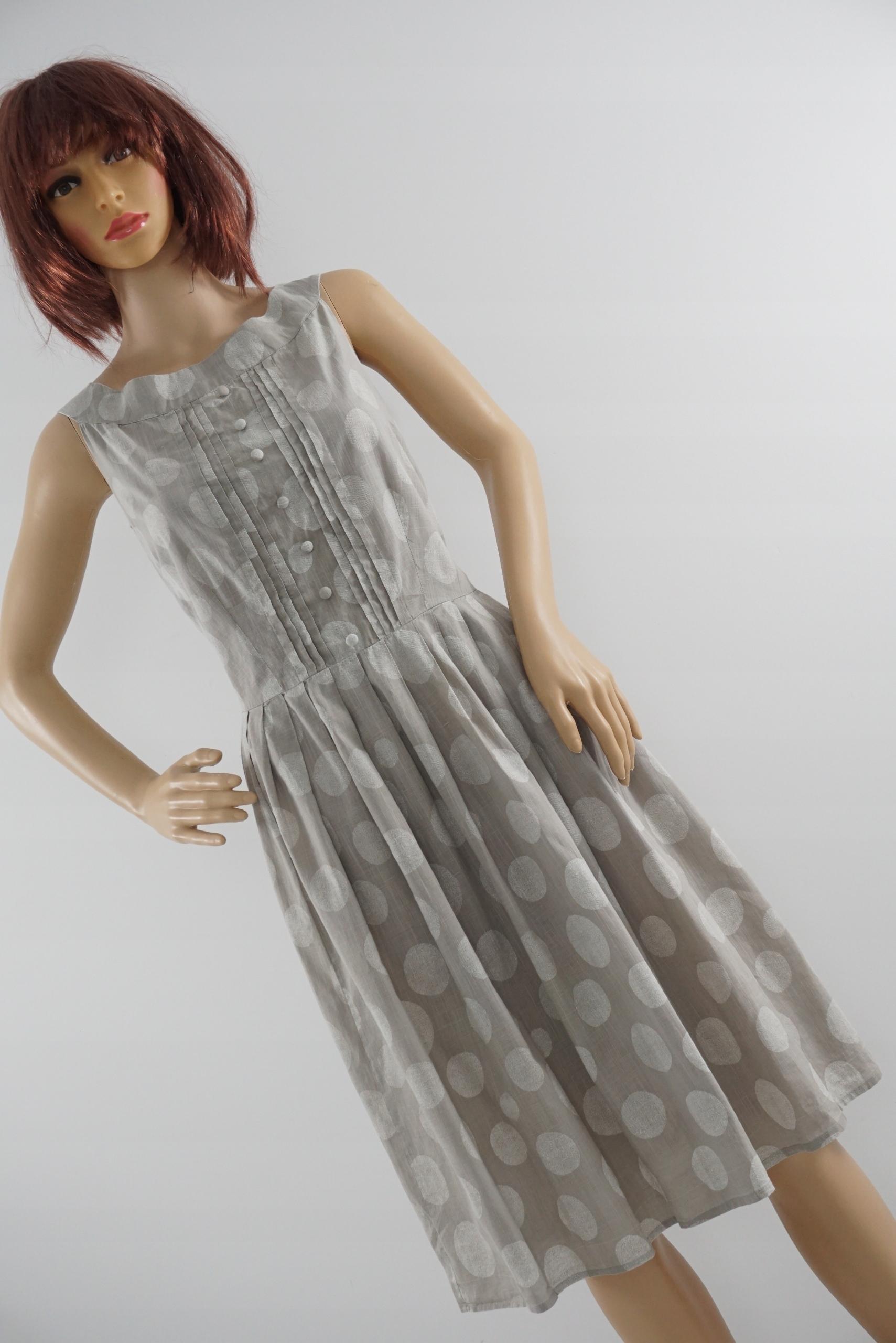 NEXT rozkloszowana sukienka w groszki r 44/46