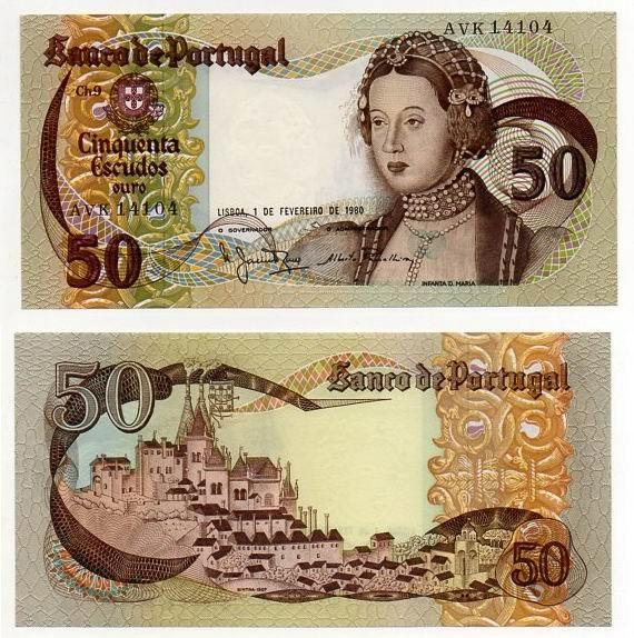 PORTUGALIA 1980 50 ESCUDOS