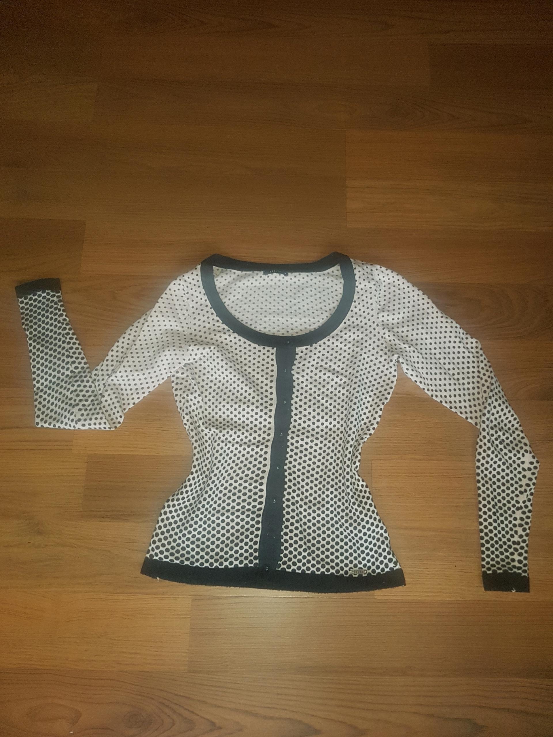 sweterek Mohito XS 34 kropeczki różowy