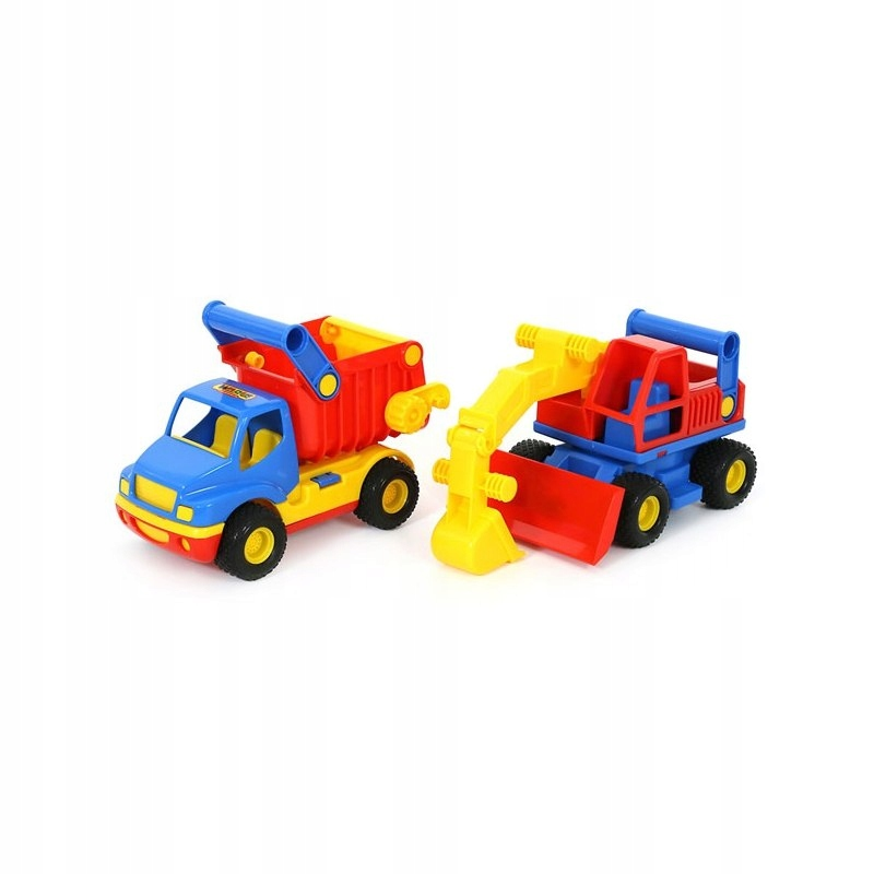 Ciężarówka Wywrotka Koparka spychacz gumowe koła 2