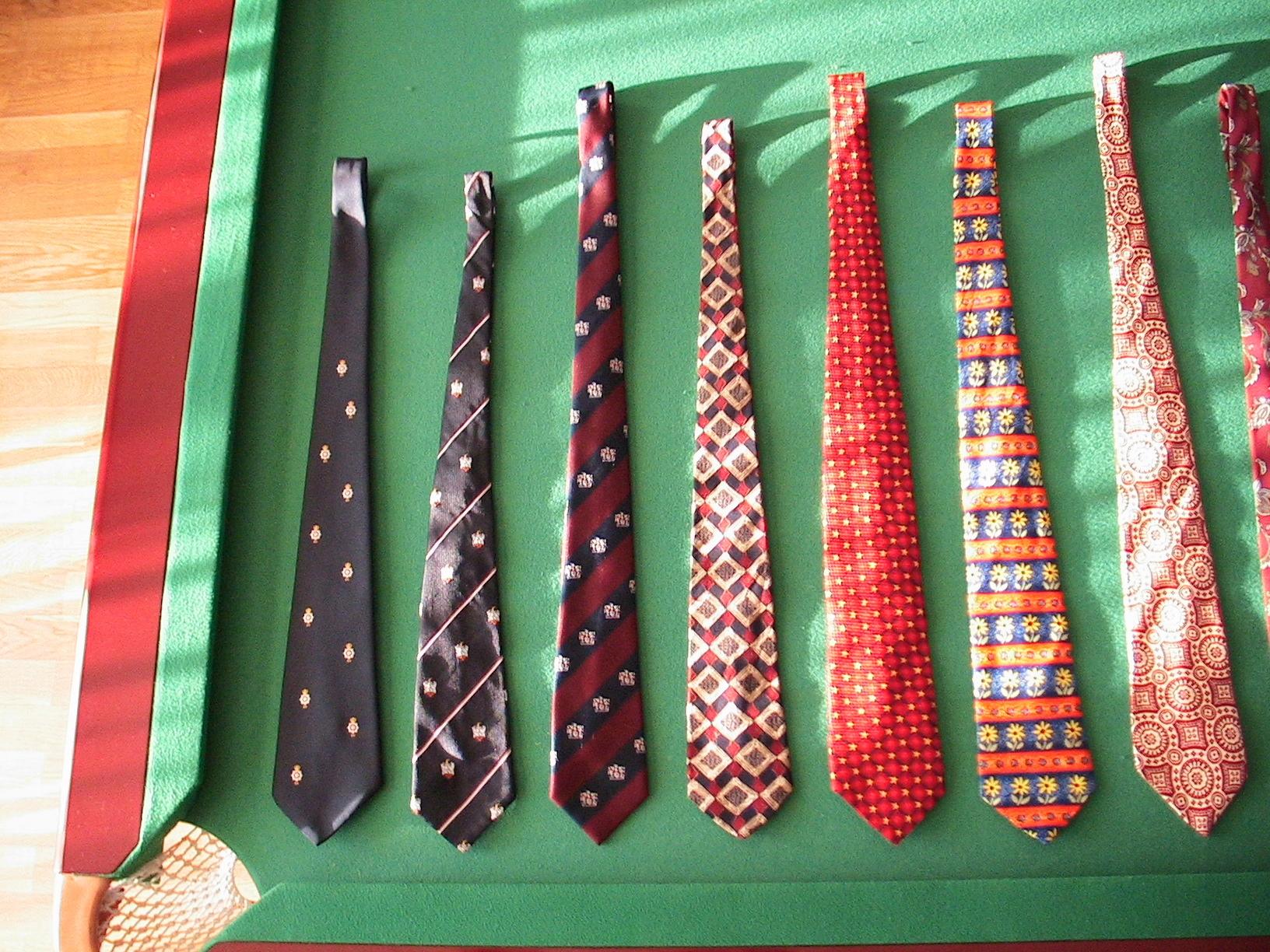 Krawat Krawaty jedwabne paski kratę Van Heusen