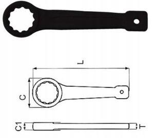 Klucz oczkowy udarowy 55mm W72155