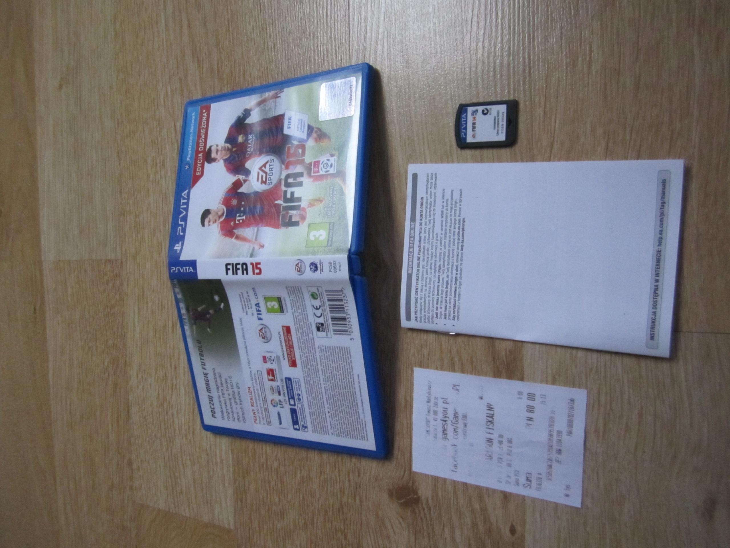 GRA Ps Vita Fifa15 Edycja Odswiezona PL