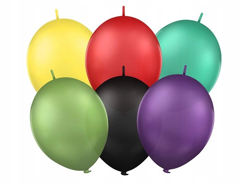 Balony 12'' z łącznikiem, Pastel mix 100