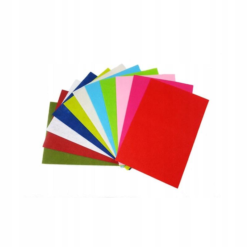 Filc kolorowy w arkuszach A4 dekoracyjny