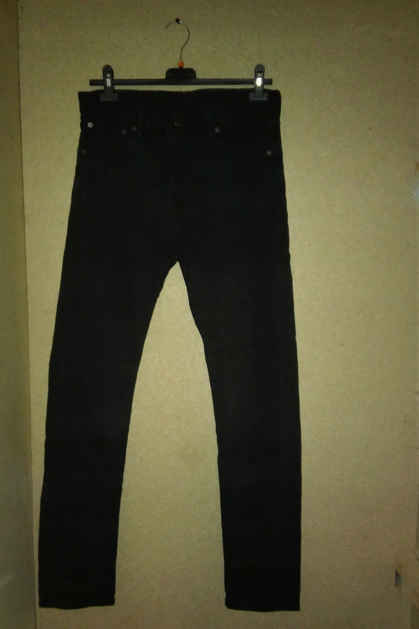 Levi Strauss Czarne jeansy wysoki stan W30 L32