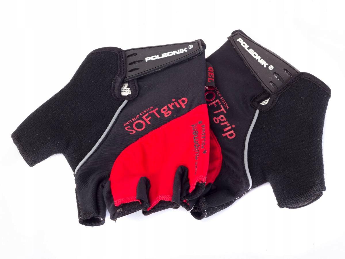 Rękawiczki rowerowe SOFT GRIP kolor czerwony M