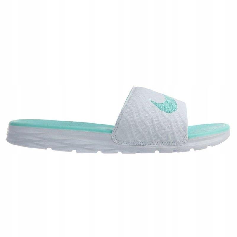 Nike Klapki Męskie Białe Zielone r.43
