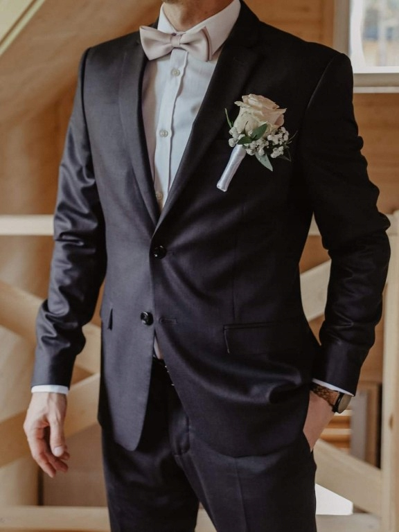 ZARA garnitur komplet popielaty wesele studniowka