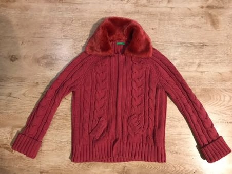 Sweter rozpinany Benetton 140-152 cm(10-12 lat)