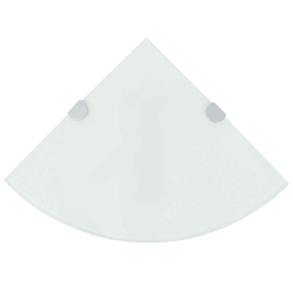 243858 vidaXL Półka narożna z chromowanymi