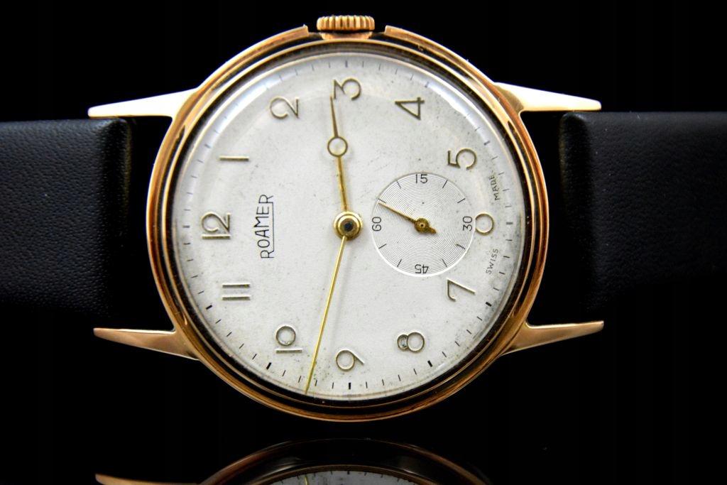 Złoty zegarek ROAMER 0,585 LATA 40