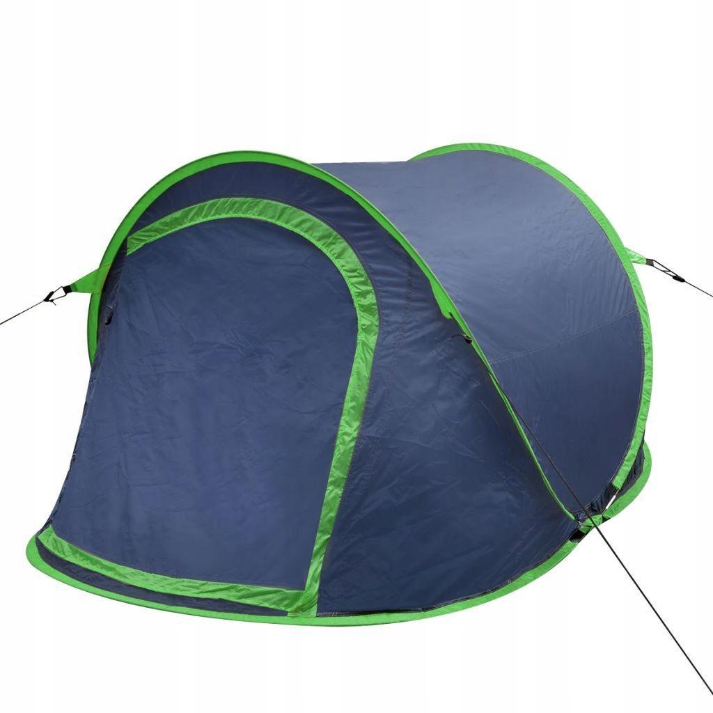 Namiot campingowy dla 2 osób, granatowy/zielony