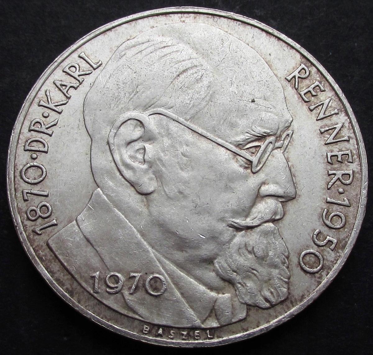 ANK AUSTRIA 50 SCHILLING 1970 RENNER st. I-/I