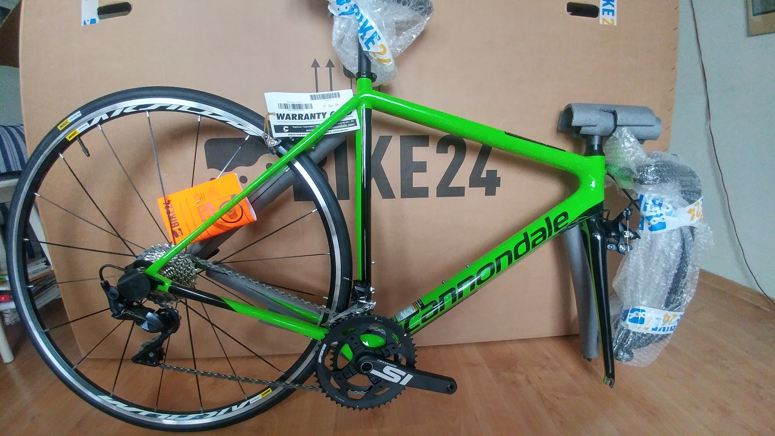 Cannondale SuperSix Ultegra 2018-GREEN 54-NOWY