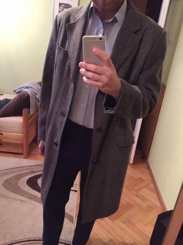 Płaszcz męski reserved szary grafitowy XL jak nowy