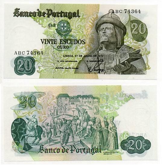 PORTUGALIA 1971 20 ESCUDOS