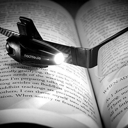 MM851 Mini lampka na okulary do czytania LED klips