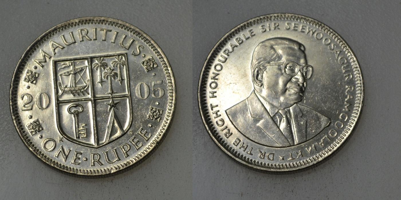 Mauritius 1 Rupia 2005 rok BCM