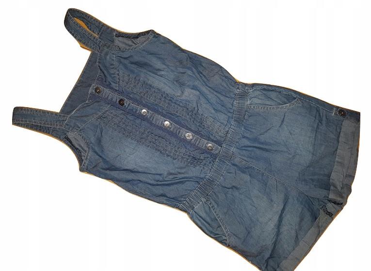*K_FASHION - jeansowy kombinezon - ROZM.140 cm