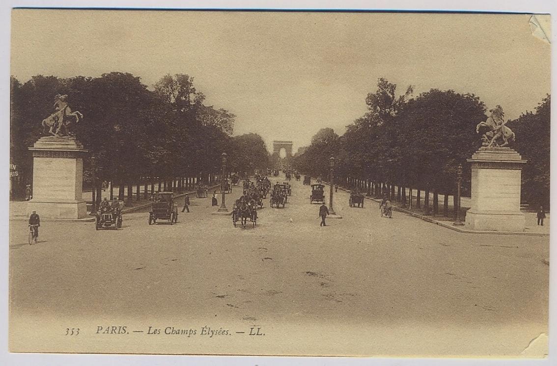 PARYŻ Paris ok.1910r. Auta x429