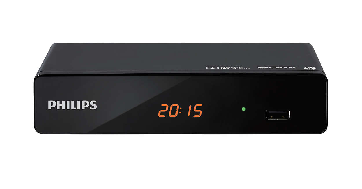 Dekoder Tuner DVB-T2 HDMI USB PHILIPS DTR3202