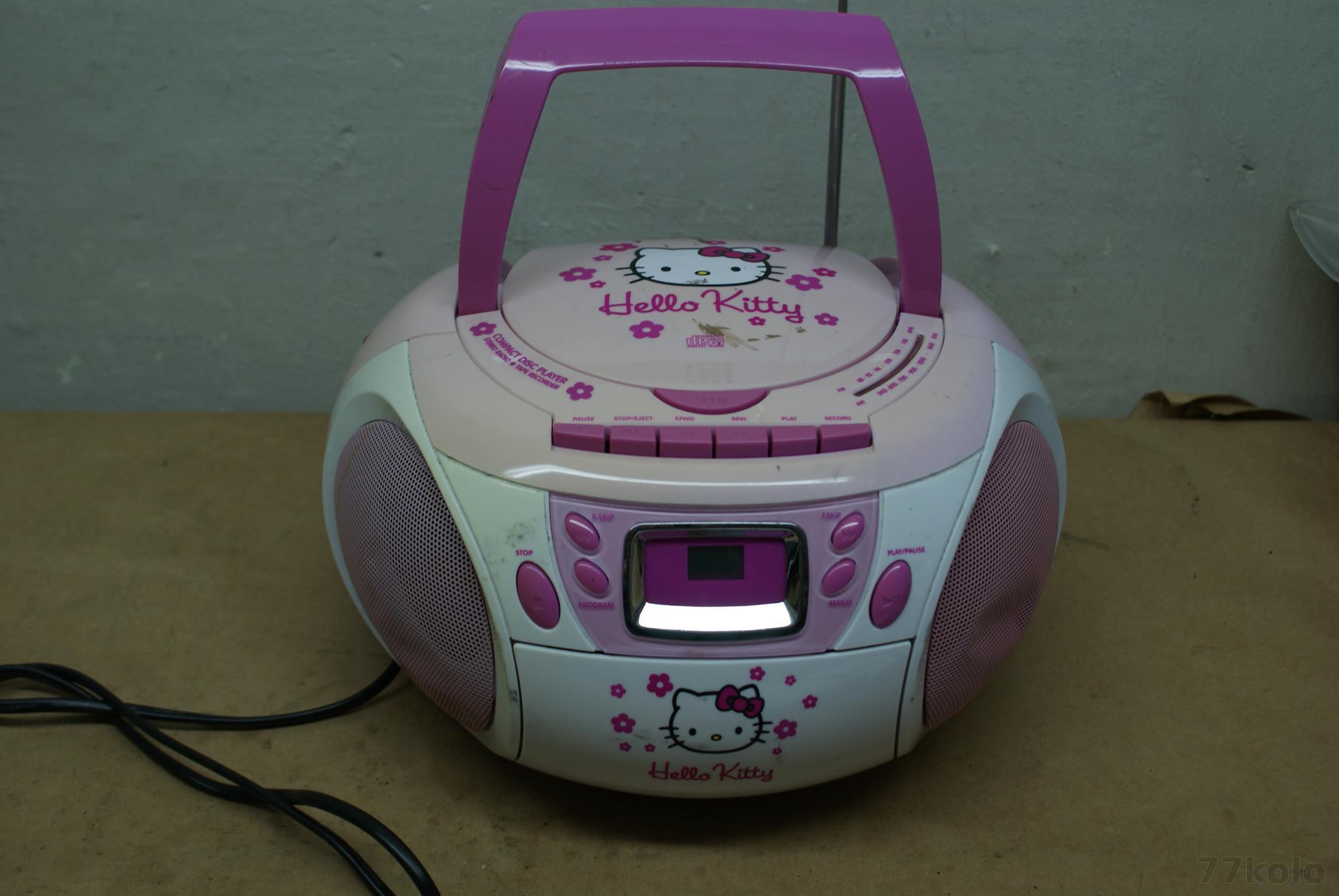 HELLO KITTY RADIOODTWARZACZ CD BOOMBOX(4385)