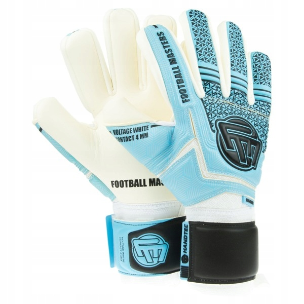 Rękawice Football Masters Voltage White Blue r. 9