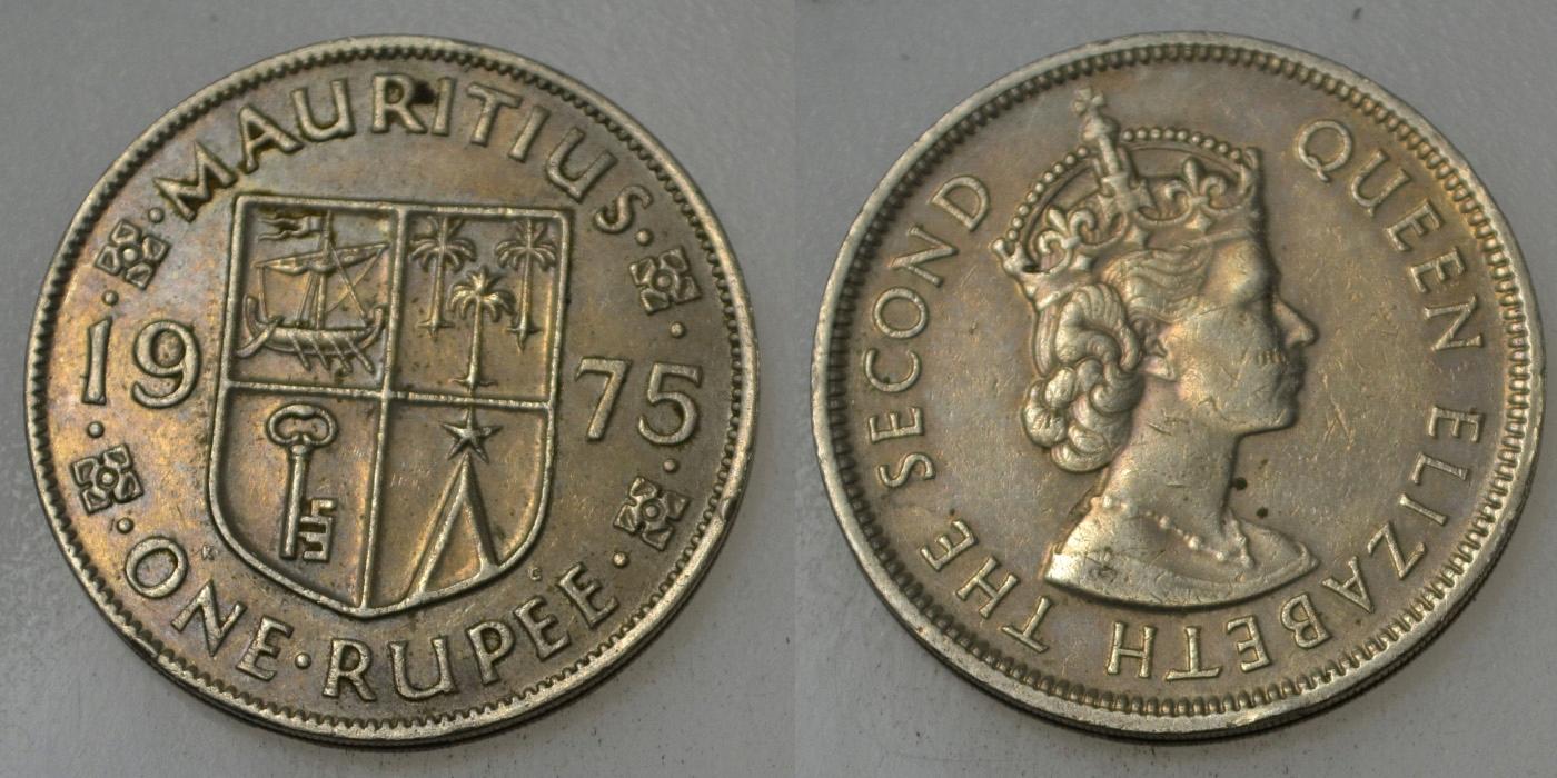 Mauritius 1 Rupia 1975 rok BCM