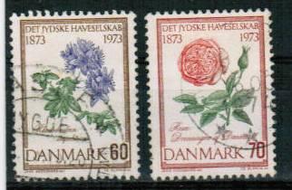Dania, M 543-44. Cz. Słania, kwiaty