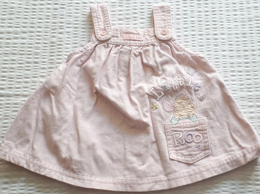 Różowa sukienka sztruks Disney Kubuś r. 68 3-6 mc