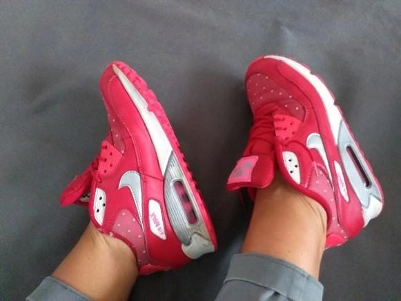 NIKE AIR MAX czerwone adidasy damskie 37,5