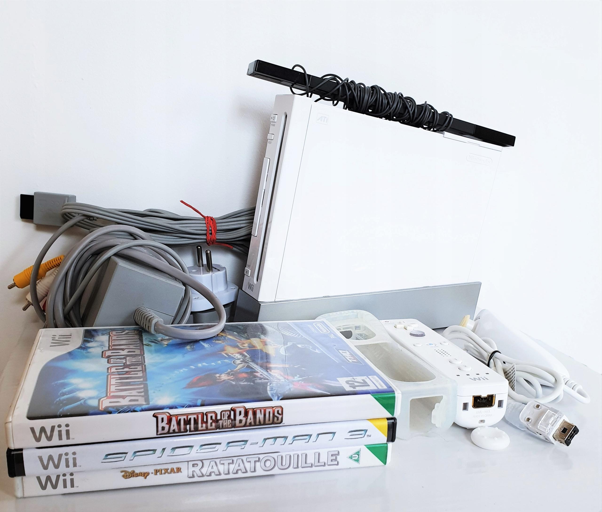 Konsola Nintendo Wii + GRY ZESTAW BIAŁA SKLEP AHS