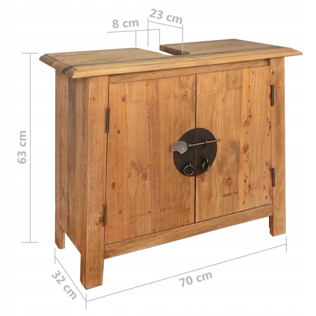 Drewniana Szafka łazienkowa Pod Umywalkę 70x32x63