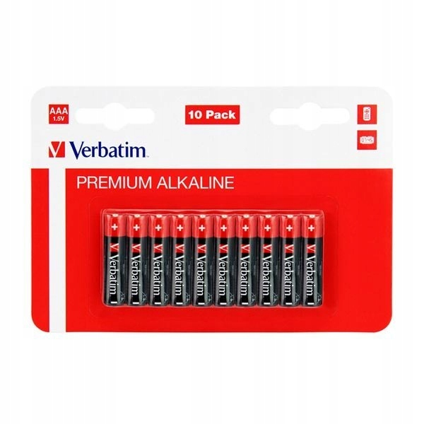 Bateria alkaliczna, AAA, 1.5V, Verbatim, blistr, 1