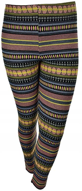 kMM3308 NOWE RIVER ISLAND kolorowe legginsy 44