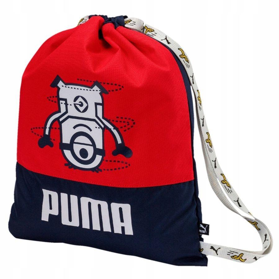 Plecak Worek Puma Minions Gym Sack 075043 01 czerw