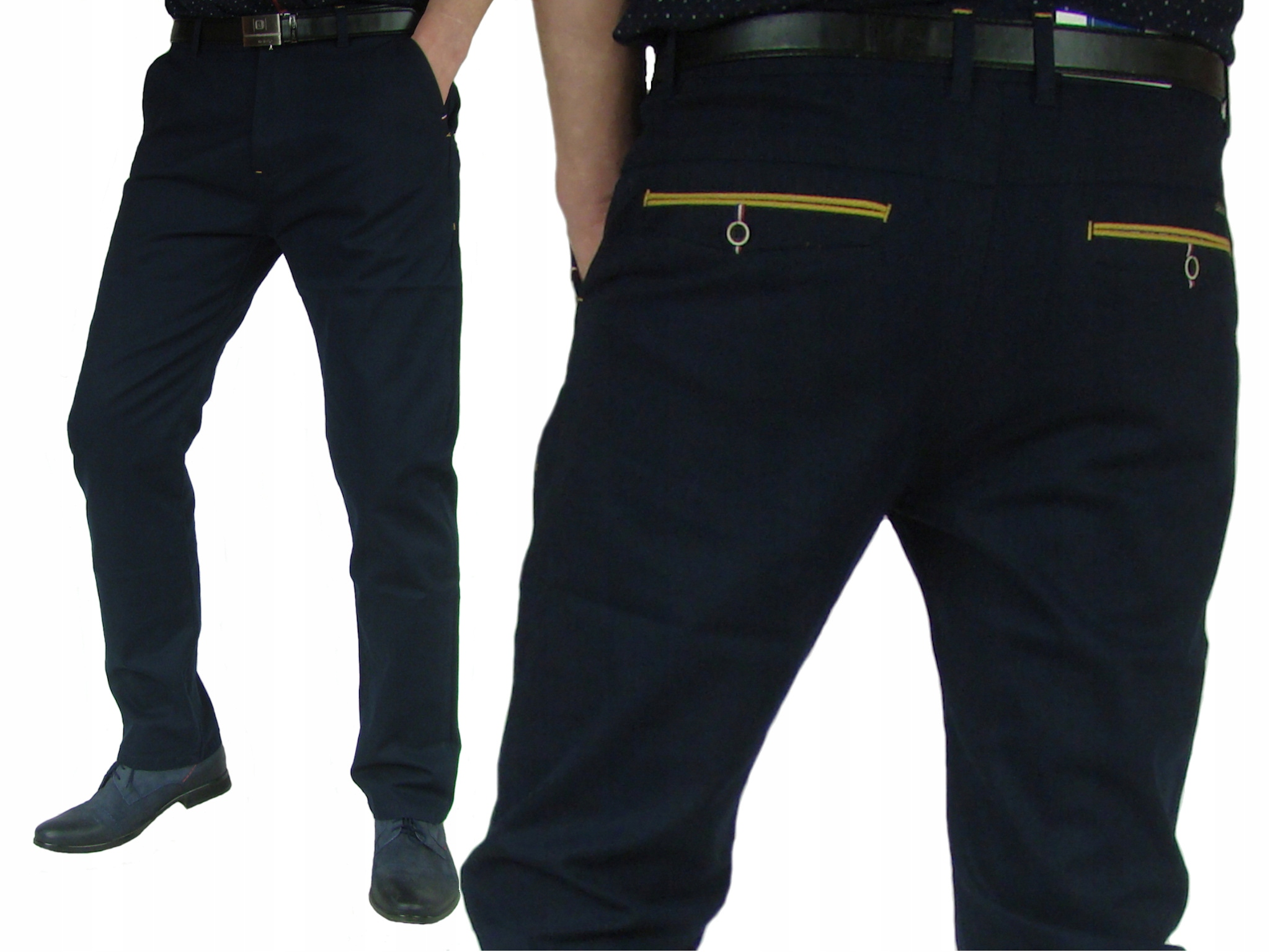 40/30 pas 104cm Spodnie Granat Casual Landers -822