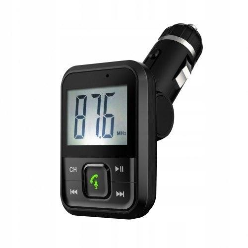 Transmiter samochodowy FM MP3 z funkcją BT, USB, m