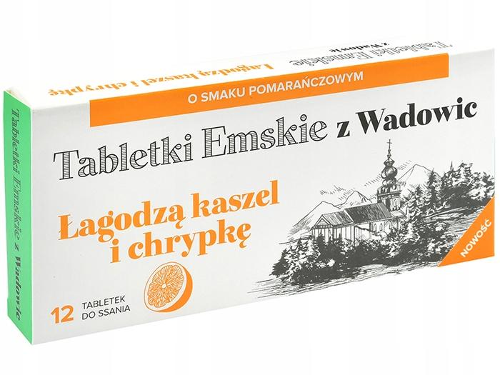 AP Tabletki Emskie z Wadowic Kaszel Chrypka x12