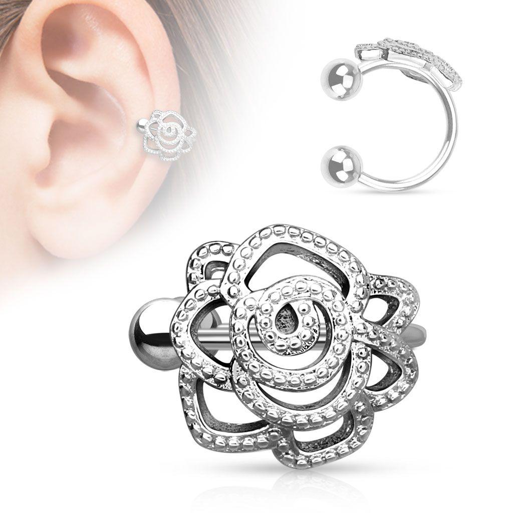 f6b2683d340926 Kolczyk na ucho NAUSZNICA róża piercing (u66) - 7322272798 ...