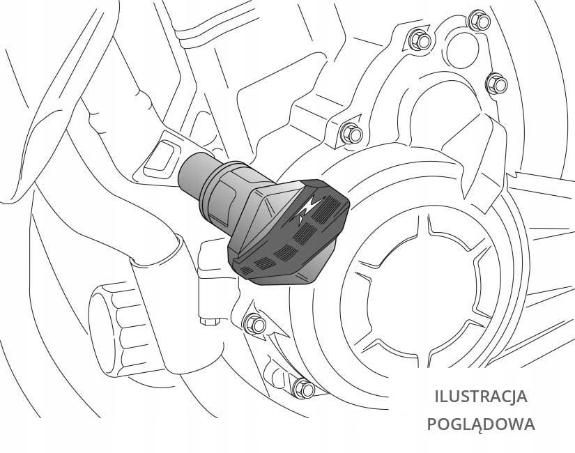 PUIG: crash pady Kawasaki Ninja 250R 08-12
