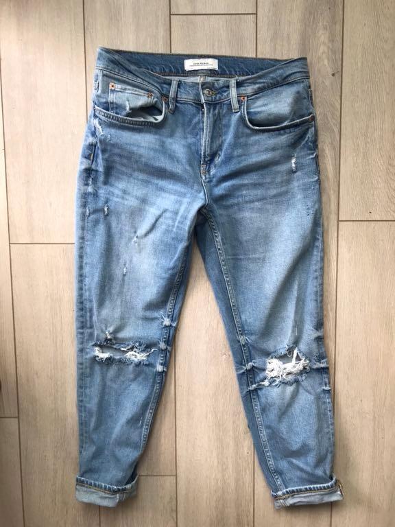 Zara Woman nowe jeansy boyfriend S 36