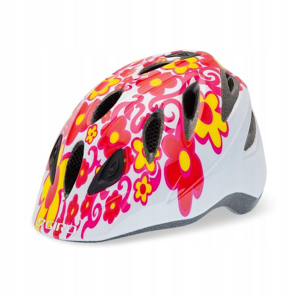 Kask Giro SPREE flowers S 46-50 rower rolki ** LED