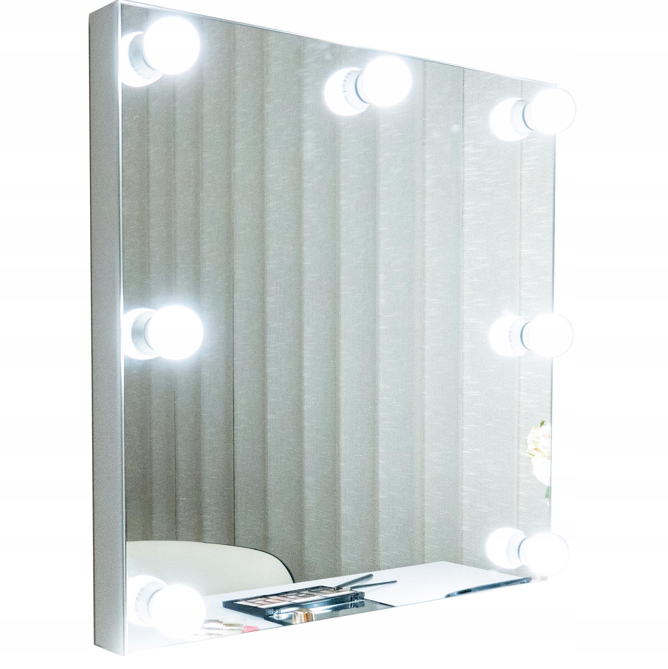 Lustro do makijażu, wizażu, lustro z żarówkami LED