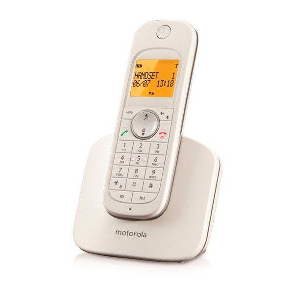 Telefon Bezprzewodowy Motorola D1001 DECT Biały