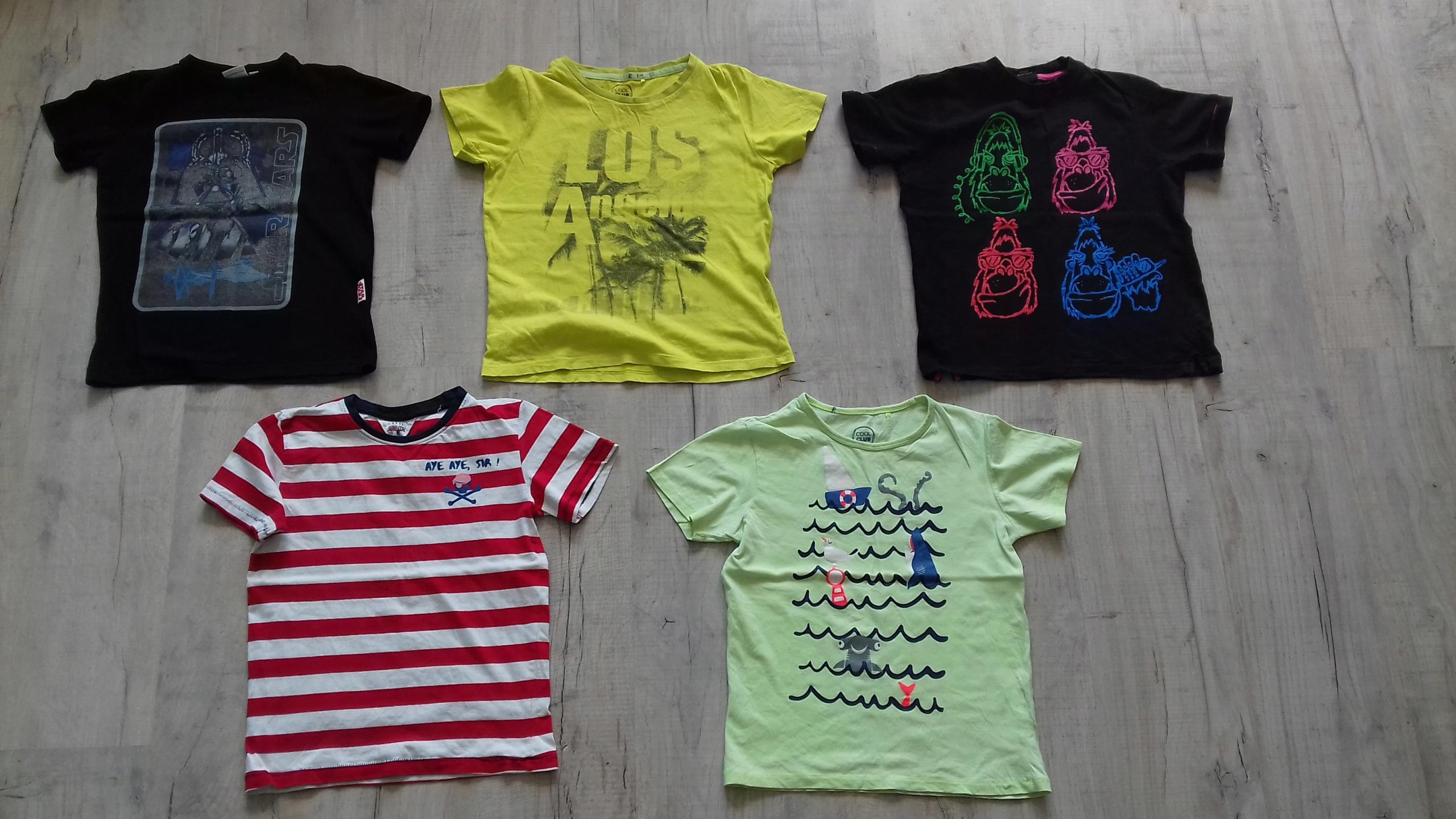 T-shirt Next i inne 128-134 - 5 szt.
