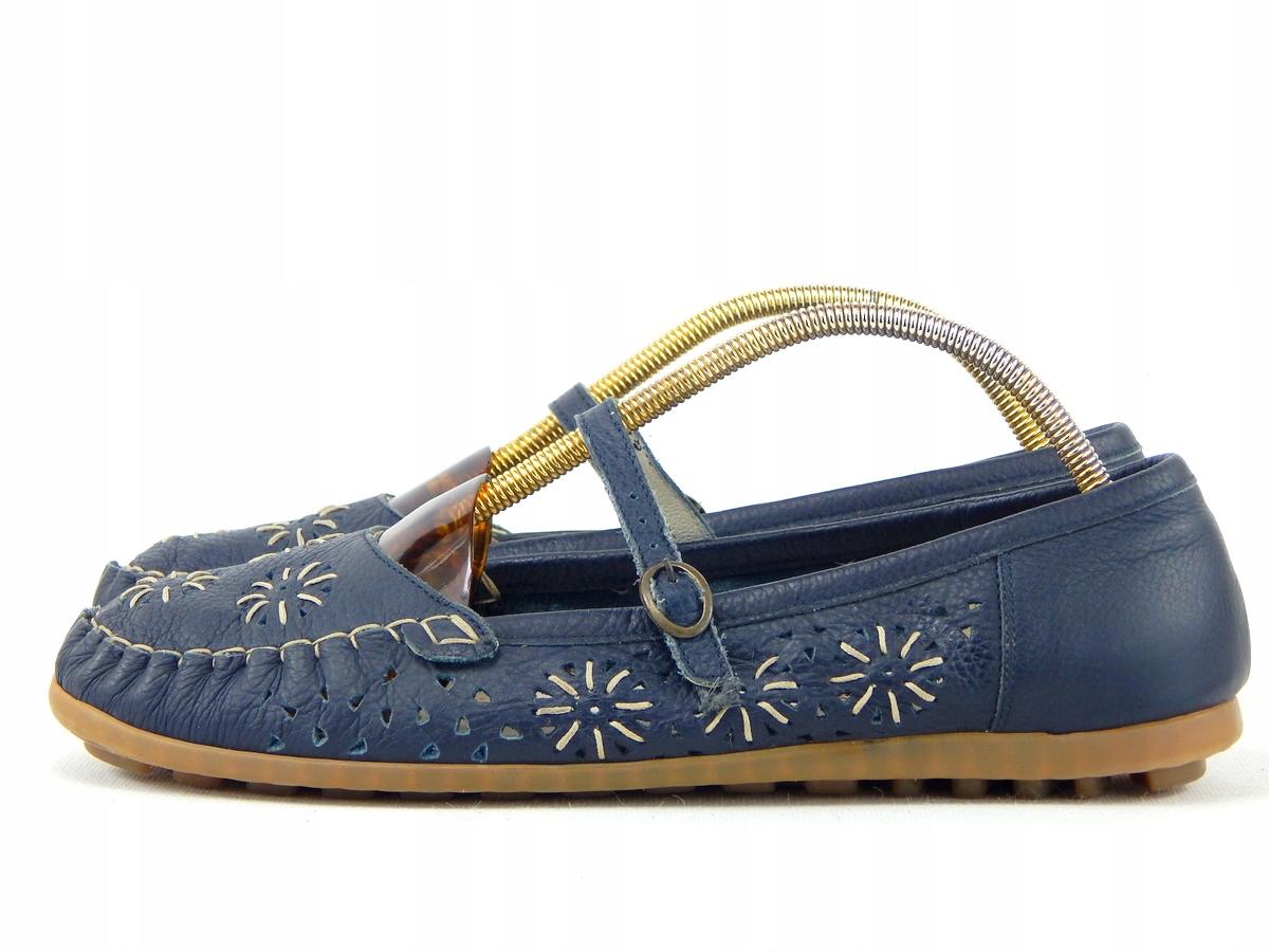 Buty ze skóry RIEKER r41 dł 26,4cm s IDEALNY
