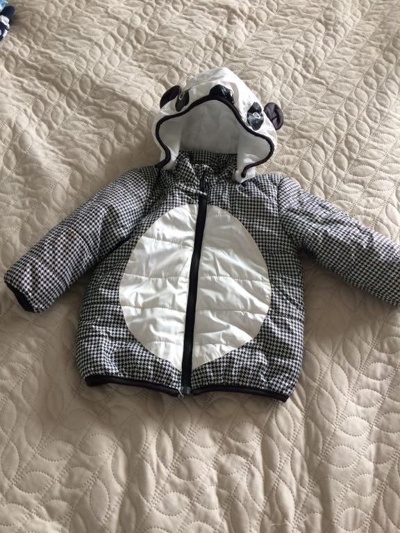 Lekka kurteczka H&M panda 80 9-12 mcy