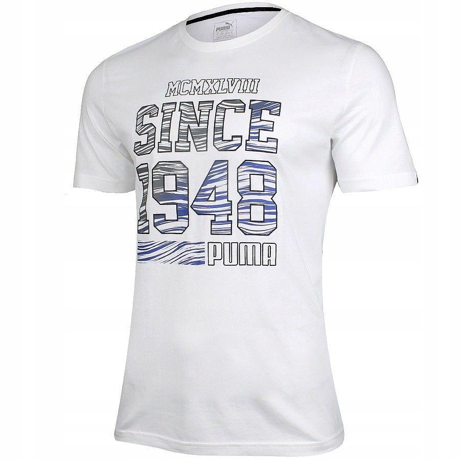 Koszulka Puma Fun Summer Logo Tee 836592 02 - BIAŁ